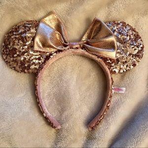 rose gold disney minnie ears from tokyo disney